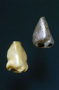 Two artificial noses, 17th-18th century... for end stage Syphilis...nose cartilage deterioration...