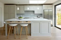 er-style cabinetry from Higham Furniture provides the perfect contemporary twist on a classic kitchen design. Painted in Little Greene's French Grey, prices start at Add accents of white and wood for extra warmth and character