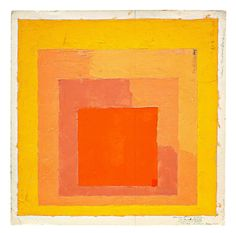 Josef Albers, The Josef and Anni Albers Foundation, bethany (con), © adagp, paris 2012 / Color study for mitered square (homage to the square)