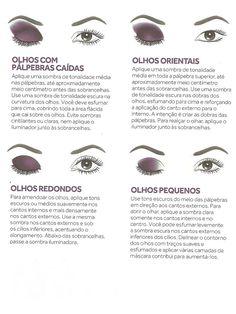 Maquiagem Dicas e tutorial para as Loucas por Maquiagem: Dicas de Maquiagem - Formatos dos olhos
