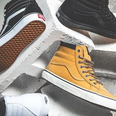 Introducing the @Vans Honey Leather MTE to our SK8-Hi range. Set yourself up this season with new features including heat retention + warm lining, lug outsole for traction and Scotch-guard treated water-resistant uppers. #pacsun