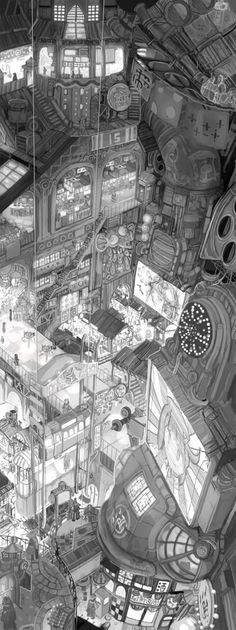 Imperial Boy Images environment, city, digital, fantasy, japan