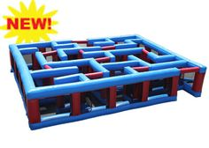 Try to find your way out of this Inflatable Maze, with turns and walls all…