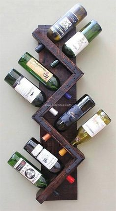 Here we are going to present an idea which is for the person with the love for drinking. This upcycled wood pallet bottles rack idea will allow placing the bottles of wine at a fixed place and they will look great placed in it as it is stylish.