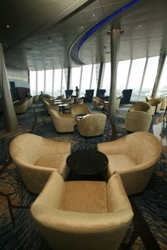 Allure Of The Seas - The Viking Crown Lounge is an iconic space for Royal Caribbean International and can be found on all of the cruise line's ships.