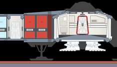 Cross section view of boarding tube joined to the Eagle passenger module. Created by Roberto Baldassari.
