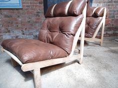1968 Vintage danisch Bernt Petersen  ''The Rag''chair, price is for the two leather chairs! #pair #brown #lather #vintage #condition #68 #vintage #retro #euvintage