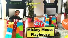 DIY Mickey Mouse Playhouse using Cardboard I Kids playhouse ideas Easy I Fun Best out of waste DIY Mickey Mouse Playhouse, Ancient Indian Art, Playhouse Ideas, Cardboard Design, Cardboard Playhouse, Mini Craft, Diy Box, Disney Inspired, 5 Minute Crafts