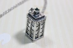 TARDIS Doctor Who Necklace police box necklace by alicejewelrysale