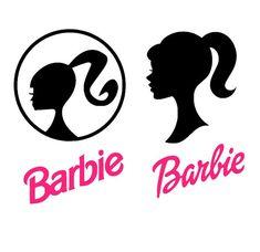 Barbie silhouette SVG file, Barbie head, DIY Barbie decorations, barbie birthday, Silhouette studio and Cricut design space, studio3