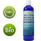 Argan Sandalwood Shampoo for Dry Hair and Scalp  Damaged Hair Repair Treatment for Men and Women with Sandalwood Essential Oil  Sulfate Free (8oz)