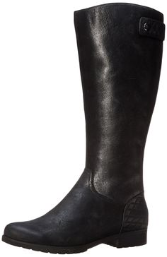 ecc24872 Rockport Women's Tristina Quilted Tall Riding Boot,Black Waterproof Wide  Calf,8 M US