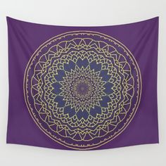 Mandala in purple and gold is a digitally created pattern.<br/> <br/> Original image by Lena Photo Art. All Rights Reserved.<br/> <br/> pattern, abstract, nature, purple...