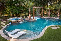 The World's Greatest Pools are built with Pebble Tec pool finishes. View a gallery of gorgeous pools featuring a variety of our PebbleSheen finishes. Backyard Pool Landscaping, Backyard Pool Designs, Swimming Pools Backyard, Swimming Pool Designs, Garden Pool, Lap Pools, Indoor Pools, Pool Decks, Backyard Ideas
