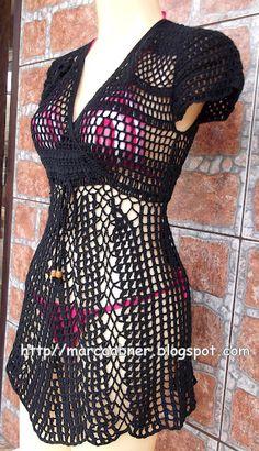 Filet Crochet, Crochet Top, Crochet Summer Dresses, Beach Attire, Two Piece Skirt Set, One Piece, Crochet Woman, Summer Wear, Crochet Clothes