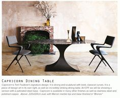 Capricorn Dining Table by Tom Faulkner