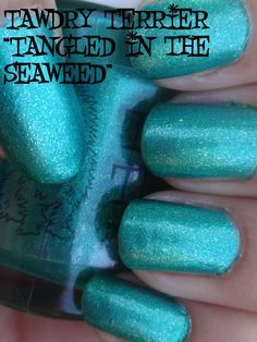 "@TawdryTerrier ""Tangled in the Seaweed"" in the shade - 1 bottle available at https://www.etsy.com/shop/TawdryTerrier #nailpolish #indienailpolish #tawdryterrier"