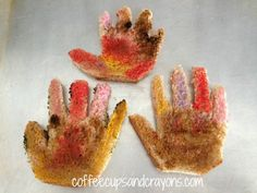 Kids Snack Idea: Handprint Turkey Toast