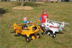 Building Plans - Piper Cub Pedal Plane Plans, look just like his grandpas!