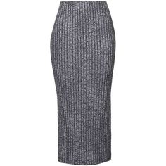 TOPSHOP TALL Salt and Pepper Tube Skirt ($40) ❤ liked on Polyvore featuring skirts, charcoal, jersey skirt, slit skirt, tall skirts, tube skirt and topshop