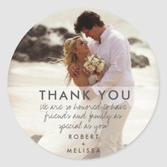 Wedding Day Photo Thank You Favor Stickers Wedding Favours Thank You, Beach Wedding Favors, Beach Wedding Invitations, Wedding Favor Tags, Wedding Day, Simple Beach Wedding, Beach Wedding Inspiration, Wedding Stickers, Wedding Save The Dates
