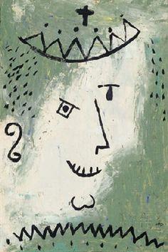 Kronen-narr by Paul Klee 1938