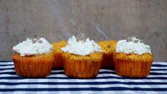 Mrkvové muffiny s tvarohem Desserts, Tailgate Desserts, Deserts, Dessert, Food Deserts
