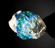 The largest uncut black opal in the world   Geology IN