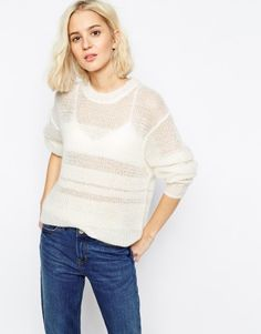 Asos | sheer stripe sweater | would wear this all the time.