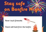 Decorative and informative poster offering advice to children on how to stay safe on fireworks / bonfire night. Bonfire Night Guy Fawkes, Guy Fawkes Night, Bonfire Night Crafts, Firework Stands, Firework Safety, Small Business Help, People Who Help Us, Fireworks Craft, Safety Posters
