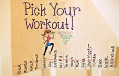Pick and rip your work out! Give yourself options and make it a goal to finish all the workouts by the end of the month! Make sure some are calm, hard, and fun!