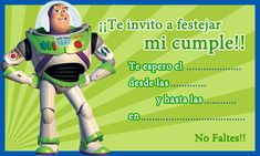 Tarjeta de cumpleaños de Buzz-Lightyear