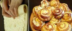 Úžasné tvarohové šneky pro šťastného manžela: nepopsatelné chutné pečivo, tajemství je ukryto v tom úžasně jemném těstě! Polish Recipes, Doughnut, Baked Potato, French Toast, Muffin, Food And Drink, Eggs, Sweets, Bread