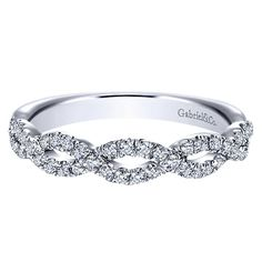 Gabriel & Co. WB8044W44JJ 14k White Gold Diamond Straight Wedding Band This delicate Gabriel & Co. Diamond Wedding band is flawless from every view.  Gabriel & Co. WB8044W44JJ Diamond W…