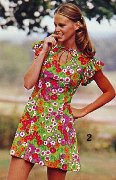 70s floral dress | Tumblr
