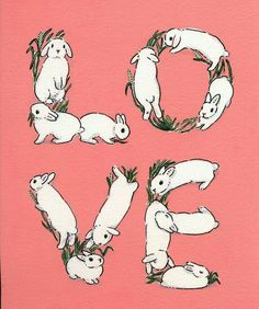 Schinako Moriyama is an illustrator as bunny art from Fukushima, Japan. She paints amazing illustrations with acrylic paint. Animals And Pets, Baby Animals, Cute Animals, Baby Bunnies, Cute Bunny, Art And Illustration, Rabbit Illustration, Illustrations, Bunny Drawing