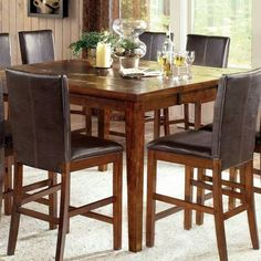 Found It At Wayfair   Steve Silver Furniture Davenport 9 Piece Counter  Height Dining Set