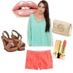 pop of color., created by stephlaurenkonkle on Polyvore