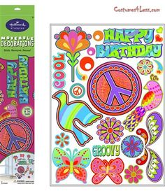 Peace Signs Glow in the Dark Removable Wall Decorations