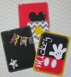 Mickey Mouse Disney Vacation Project Life Cards  Set by FandHMom, $2.00