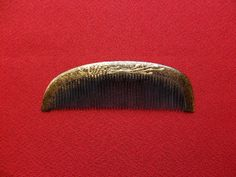 Excellent Vintage Japanese Lacquerware Hair Comb MAKIE (5)