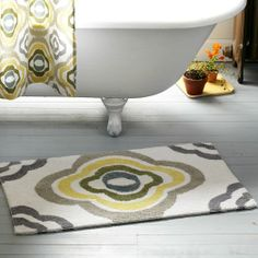 Floral Ikat Bath Mat | west elm