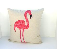 Pink Flamingo Decorative Throw Pillow // 20inch by dregetscrafty