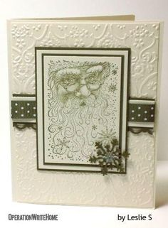 Cardmaker is Leslie S. Gorgeous Santa card!