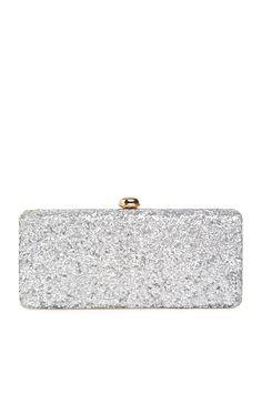 Deux Lux Rock Candy Mini Clutch in Silver
