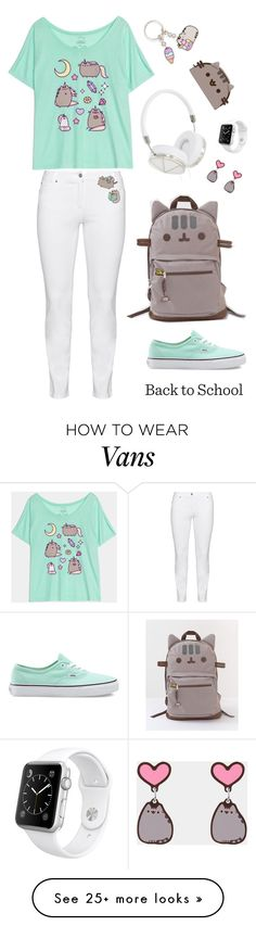 """#PVxPusheen <3"" by katestyls02 on Polyvore featuring Steilmann, Pusheen, Vans, Frends, Apple, contestentry and PVxPusheen"