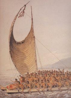 King Kalaniopuʻu greeting Captain Cook in Kealakekua Bay