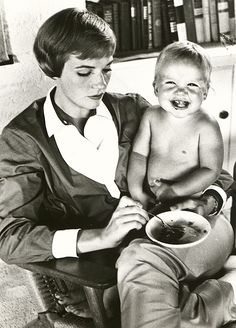 Julie Andrews with baby Emma