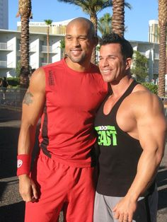 Insanity's Shaun T and the Body Beast himself, Sagi Kalev at the Super Workout in 2012  http://www.beachbodycoach.com/KariWood http://kariwood.wix.com/fitness