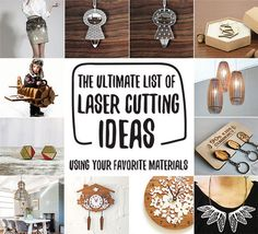 New Year, New Projects: Ultimate List Of 50 Laser Cutting Ideas